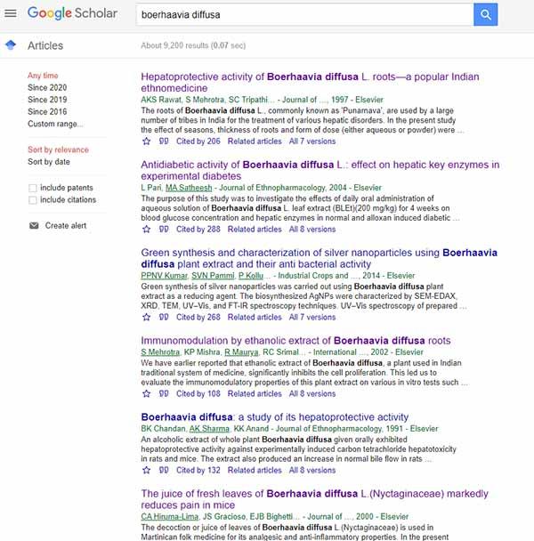 boerhaavia-diffusa benefits studies